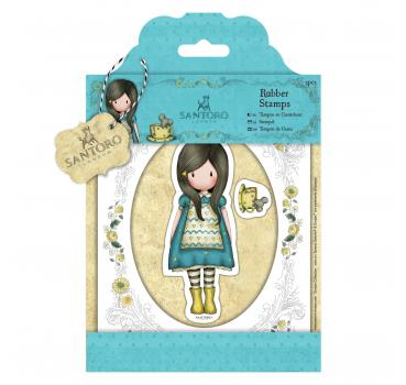Docrafts Santoro - Gummistempel  The Little Friend 3-teilig